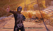 Halloween Costume Skeleton Set