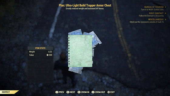 Plan: Ultra-Light Build Trapper Armor Chest
