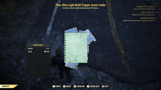 Plan: Ultra-Light Build Trapper Armor Limbs