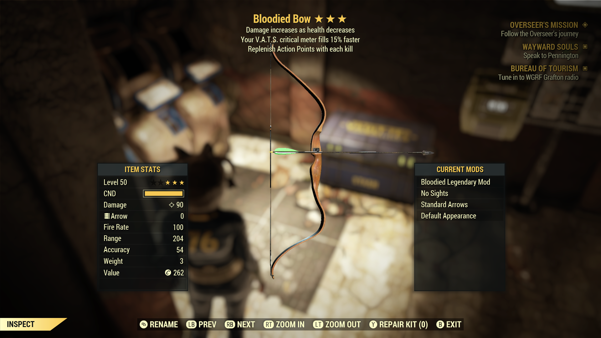 (New86)Bloodied Bow - Level 50