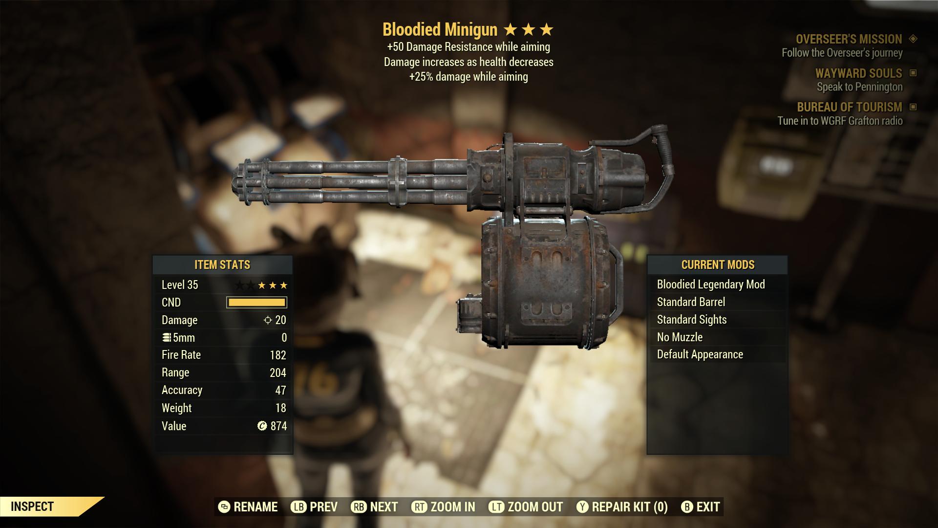 (New86)Bloodied Minigun - Level 35