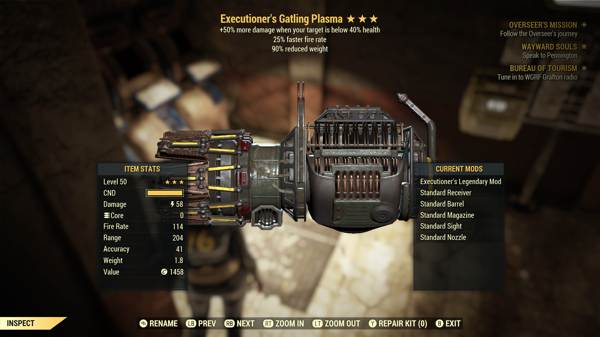 (New86)Executioner`s Gatling Plasma - Level 50
