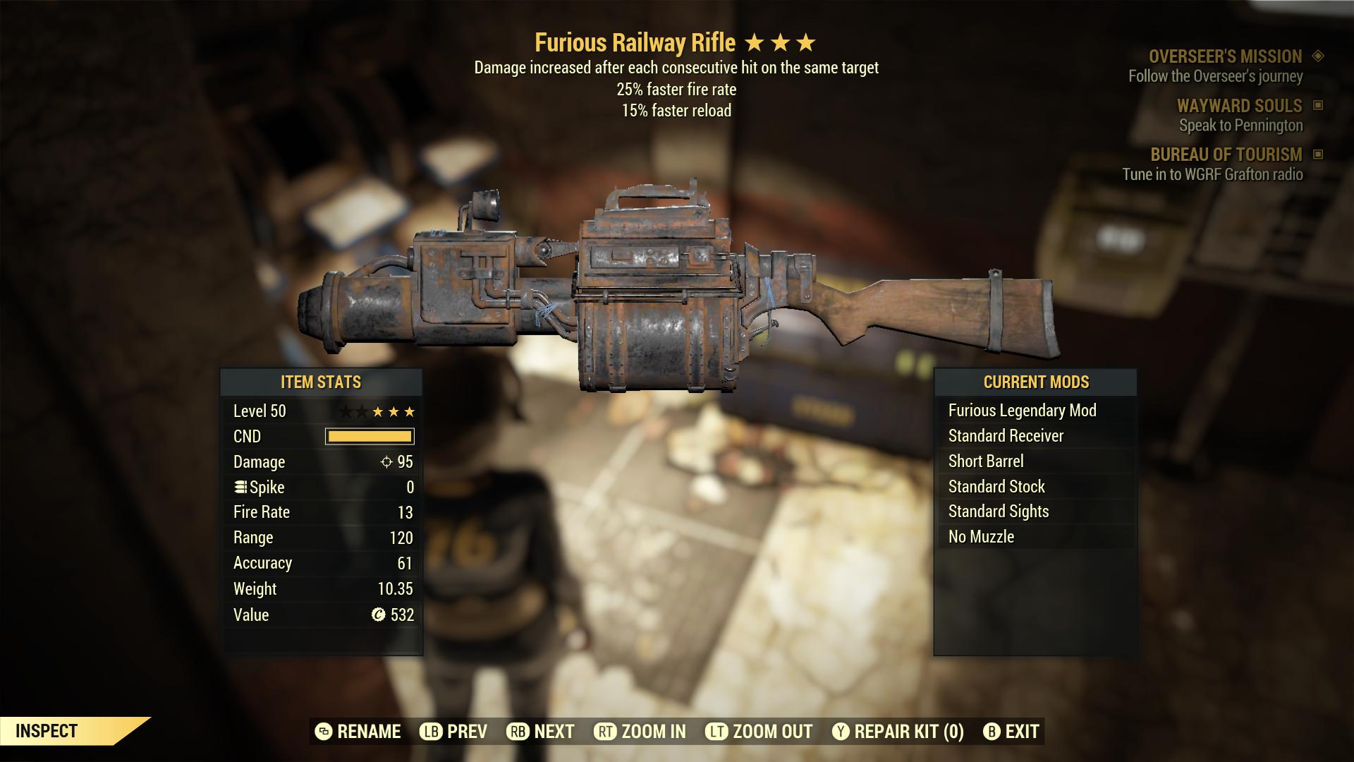 (New86)Furious Railway Rifle - Level 50
