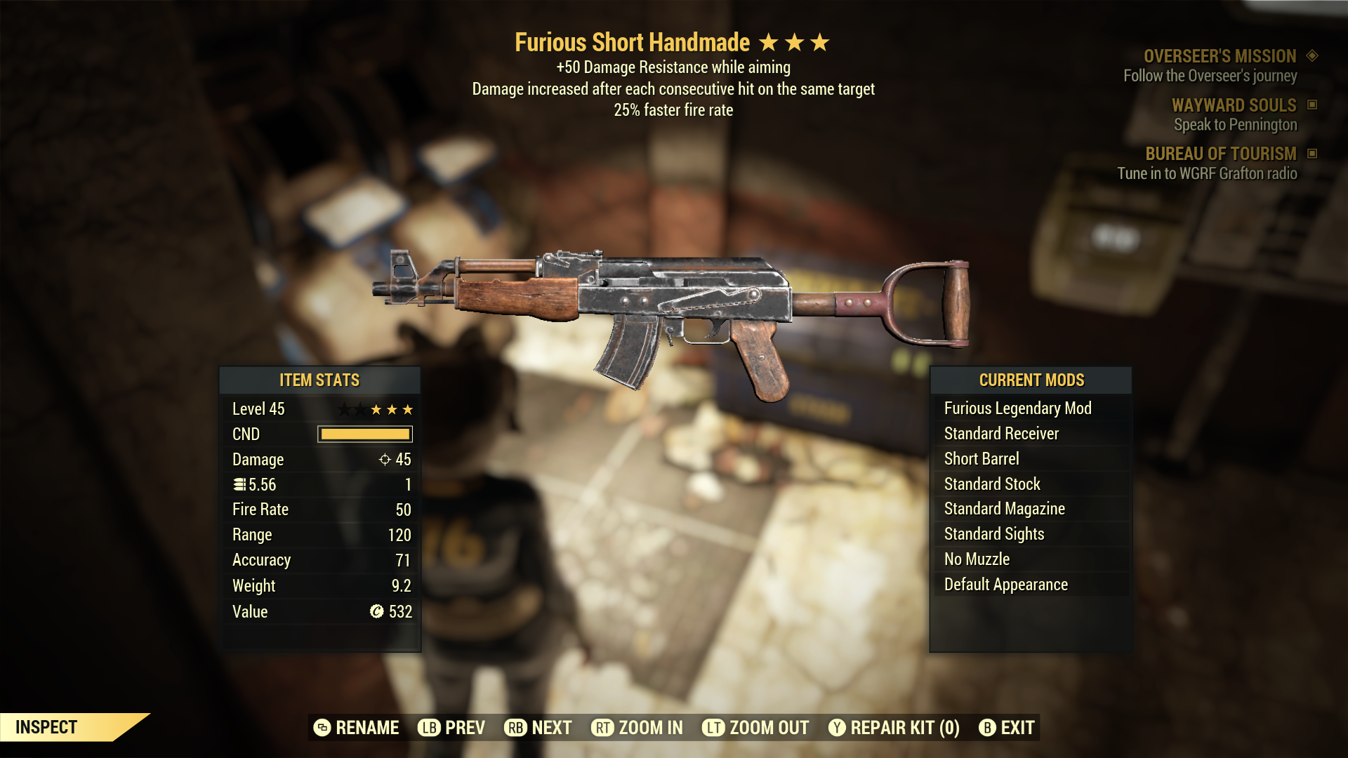 (New86)Furious Short Handmade - Level 45