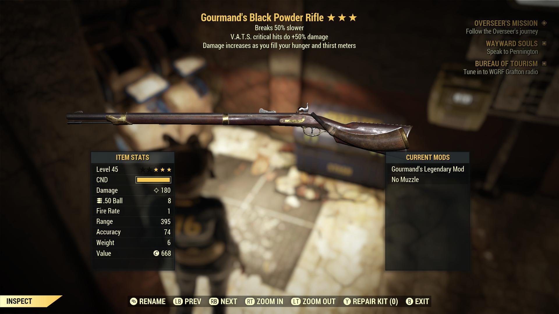 (New86)Gourmand`s Black Powder Rifle - Level 45