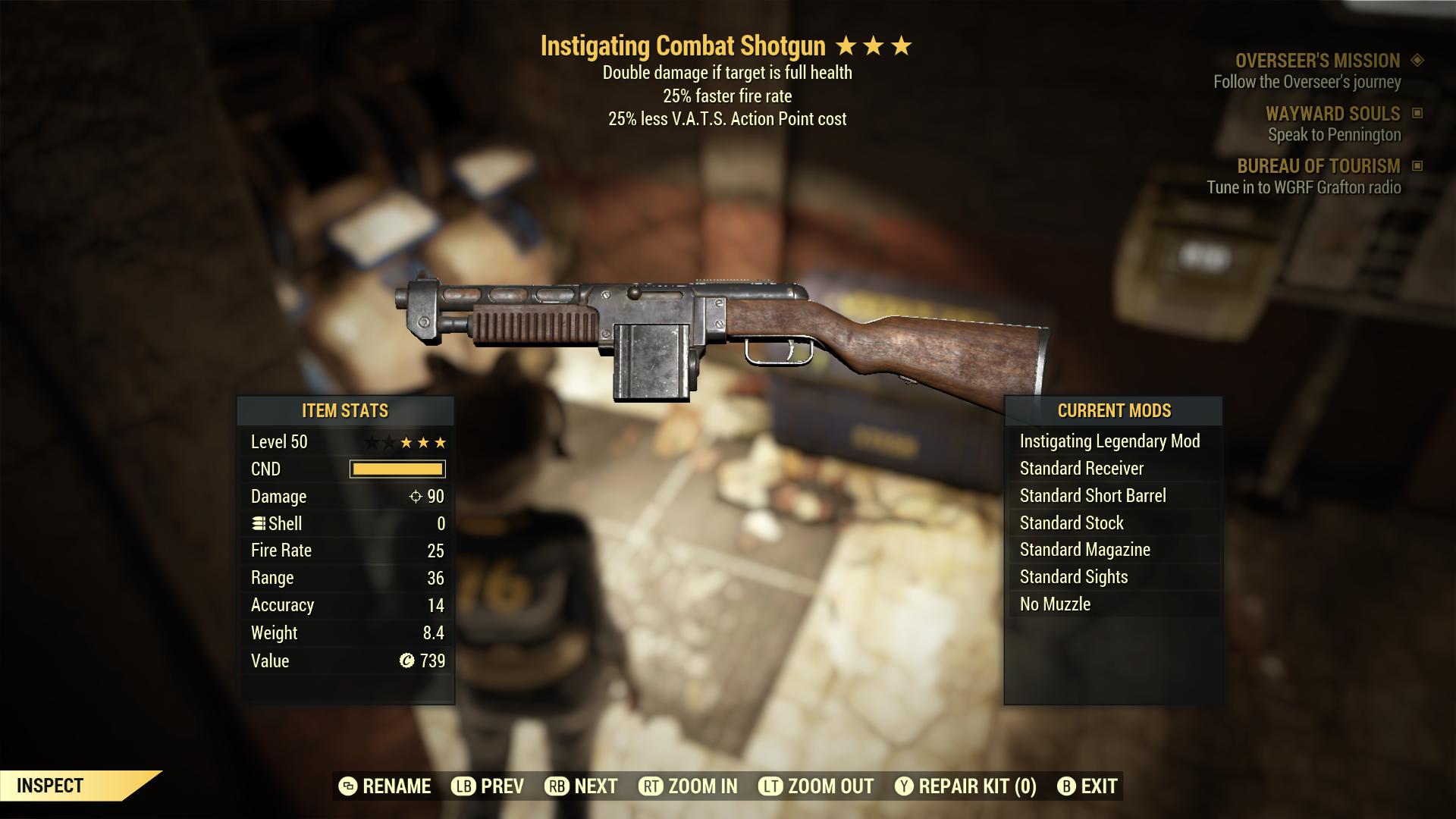 (New86)Instigating Combat Shotgun - Level 50