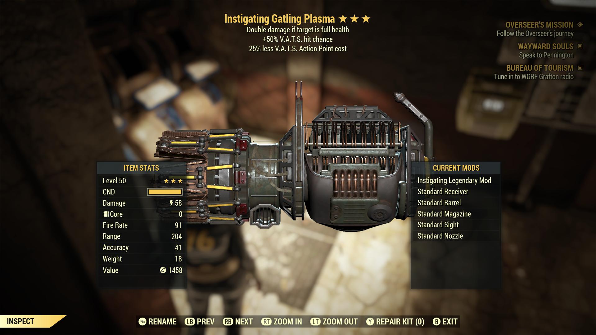 (New86)Instigating Gatling Plasma - Level 50