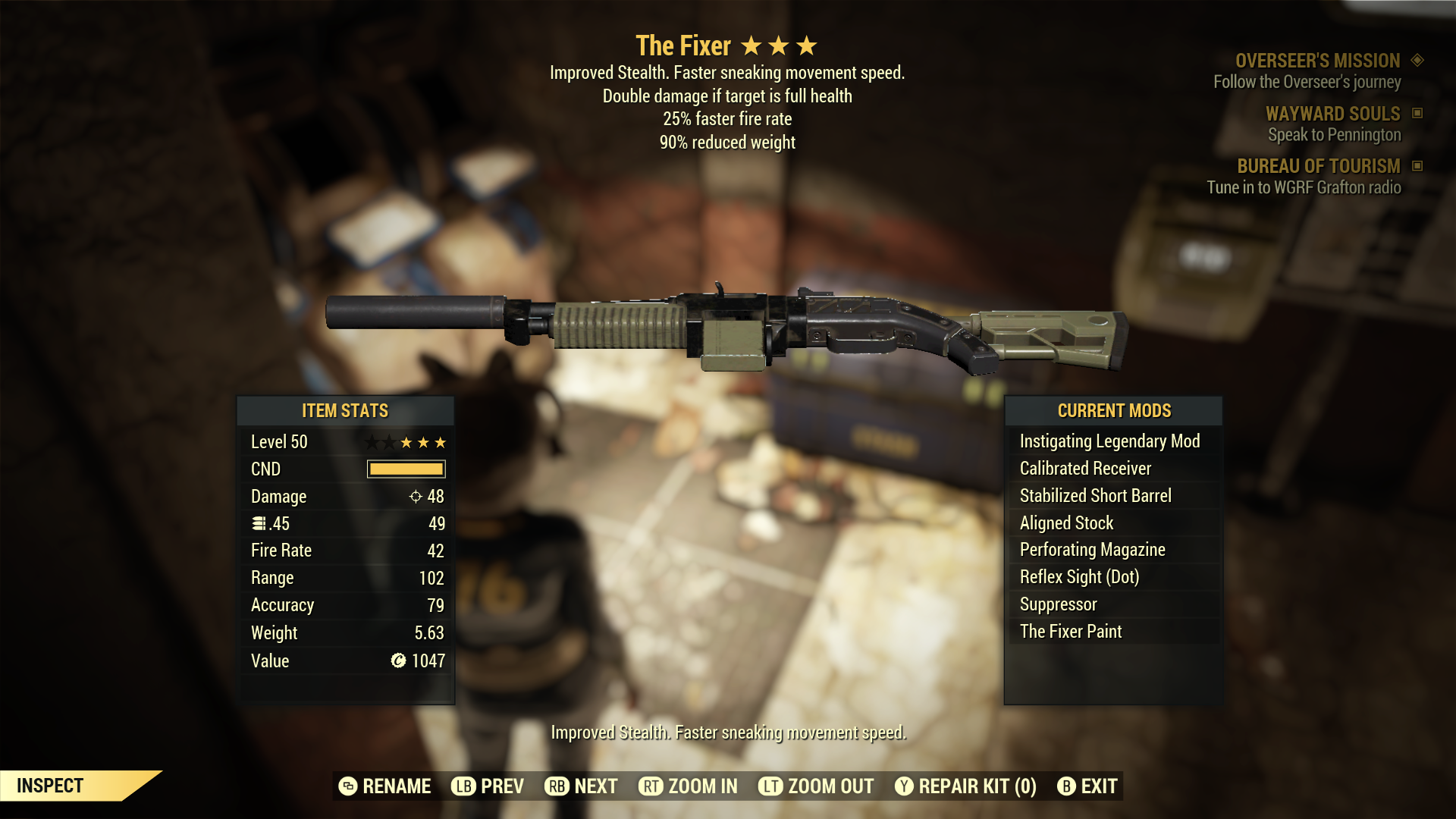 (New86)The Fixer - Level 50(25% faster fire rate)