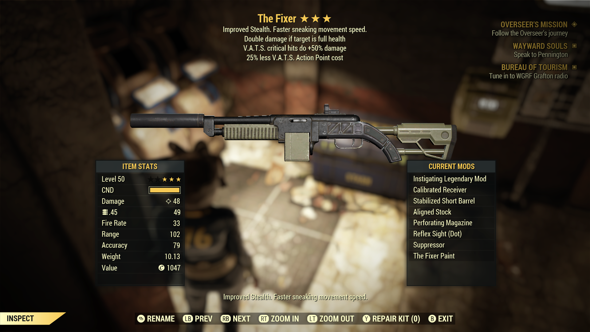 (New86)The Fixer - Level 50(V.A.T.S. critical hits do +50% damage)