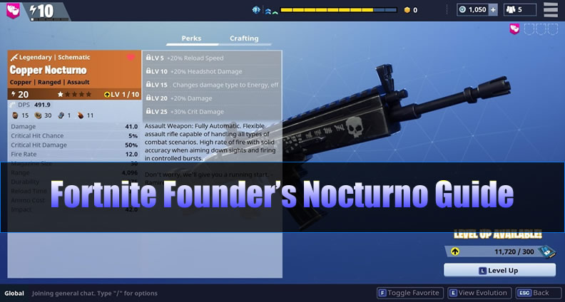 Fortnite Founder's Nocturno Guide