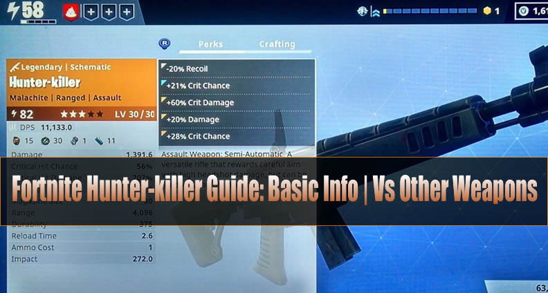 Fortnite Hunter Killer Guide Basic Info Vs Other Weapons U4gm Com
