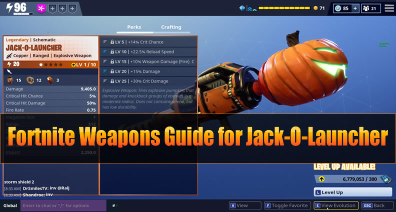 The Most Complete Fortnite Explosive Weapons Guide For Jack O