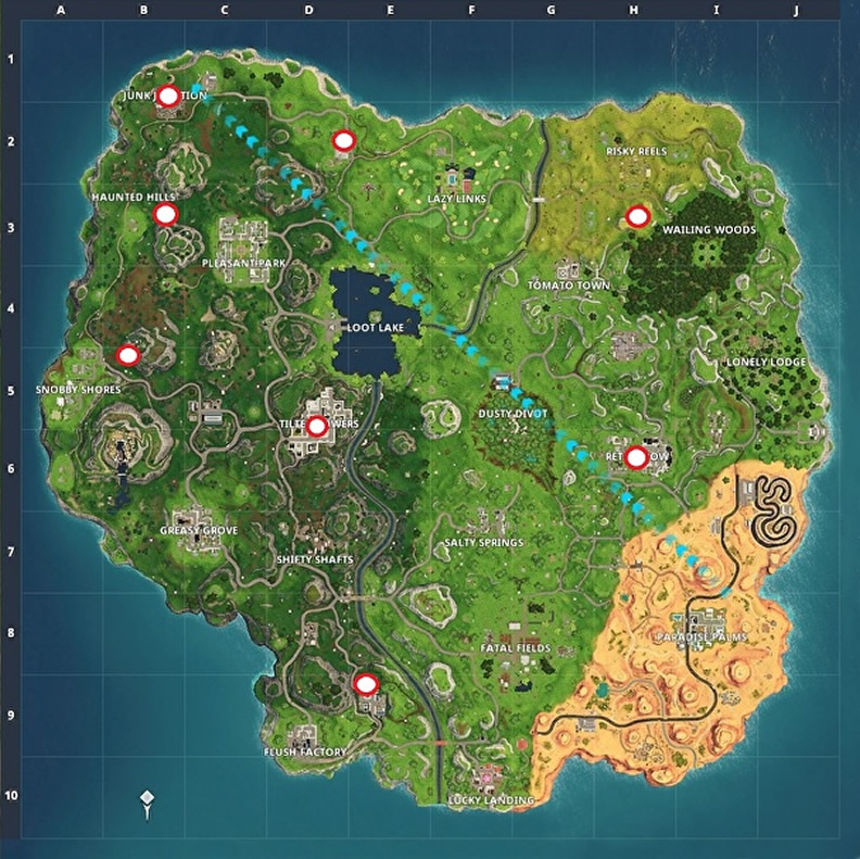 Fortnite All Lightning Bolt Locations Guide Kuyoulcc