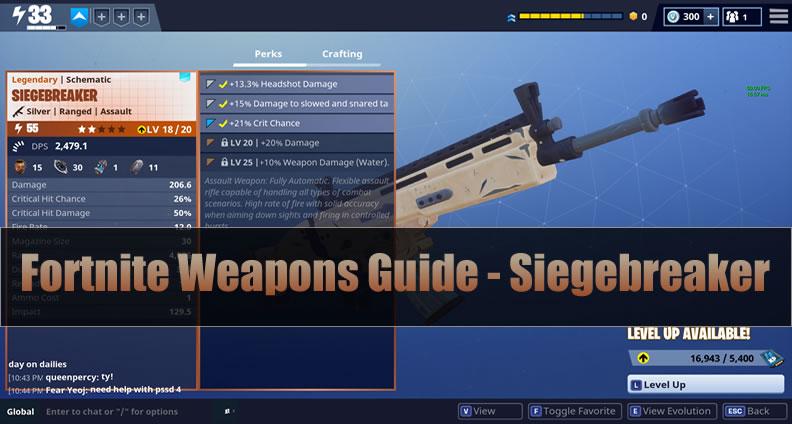 Fortnite Siegebreaker Guide
