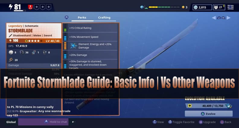 Fortnite Stormblade Guide