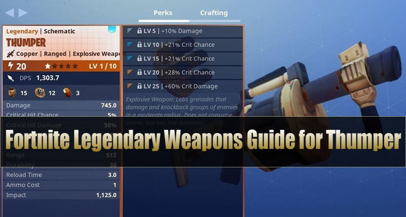 Fortnite Legendary Weapons Guide for Thumper