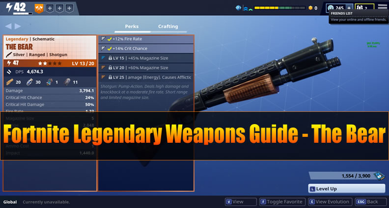 Fortnite Weapons Guide - The Bear