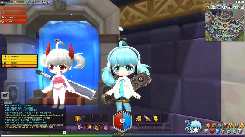 Change Hairstyle in MapleStory 2