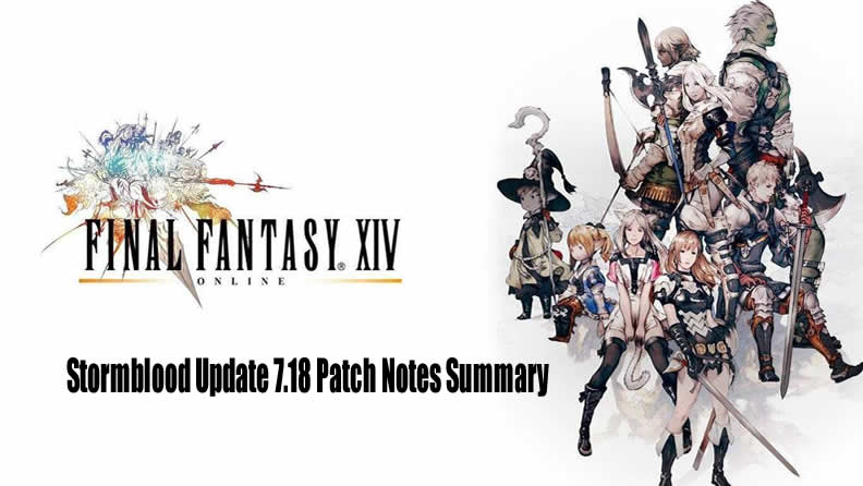Stormblood Update 7 18 Patch Notes Summary in FFXIV