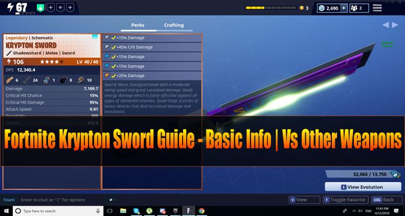 Fortnite Krypton Sword Guide