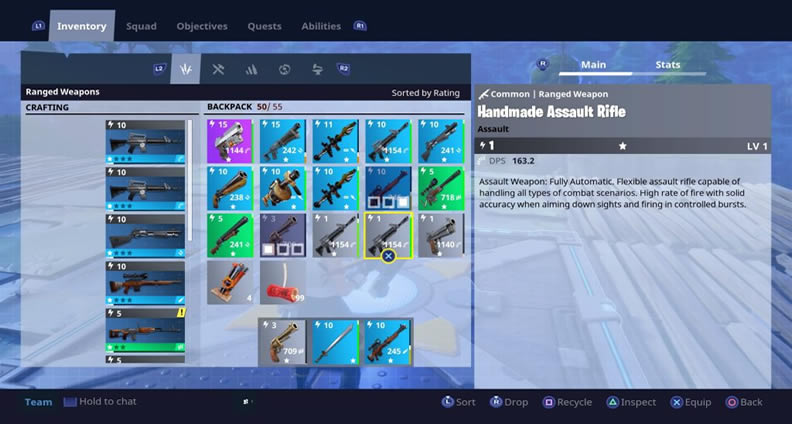 Fortnite Inventory