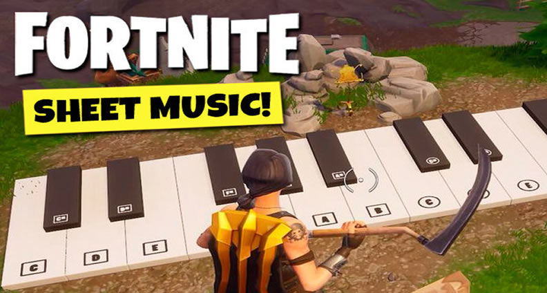 Fortnite Week 6 How Can You Play Sheet Music In Pleasant