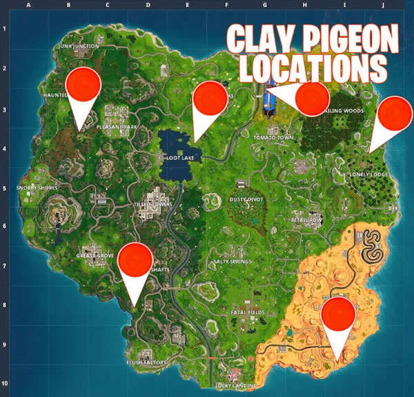 Fortnite Clay Pigeon Shooters