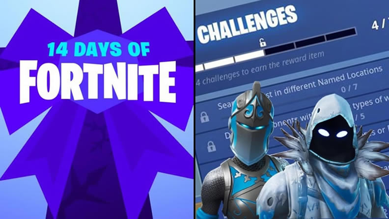 Fortnite 14 Days Of Christmas.14 Days Of Fortnite Challenges And Rewards Leaked Online