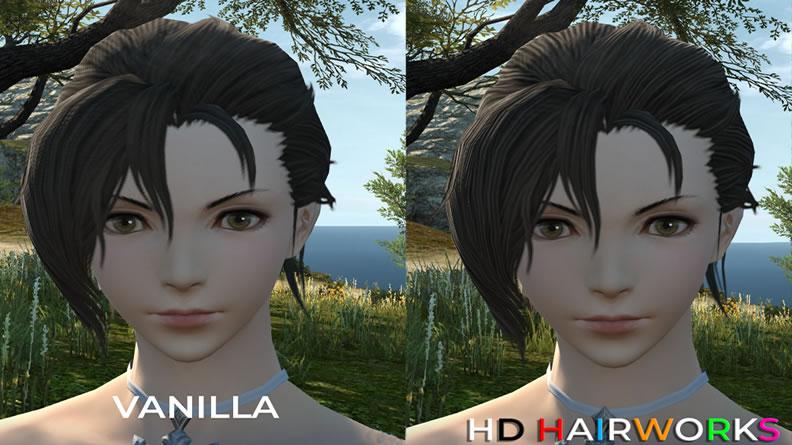 FFXIV New HD Hairworks 2 Mod