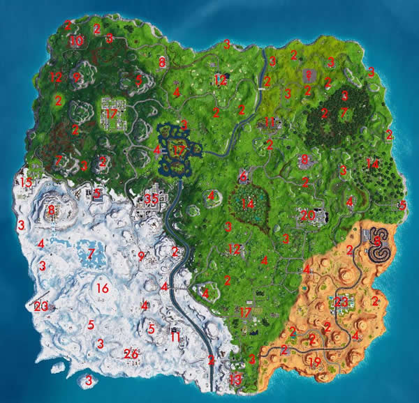 Fortnite fan map with chest locations