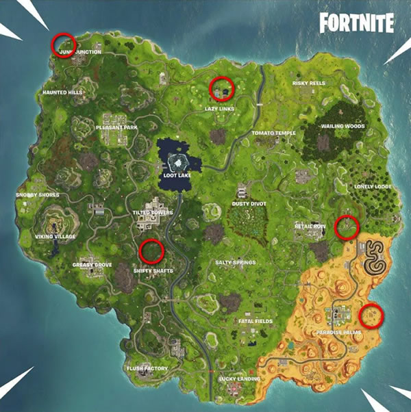 Fortnite Vehicle Timed Trials Locations