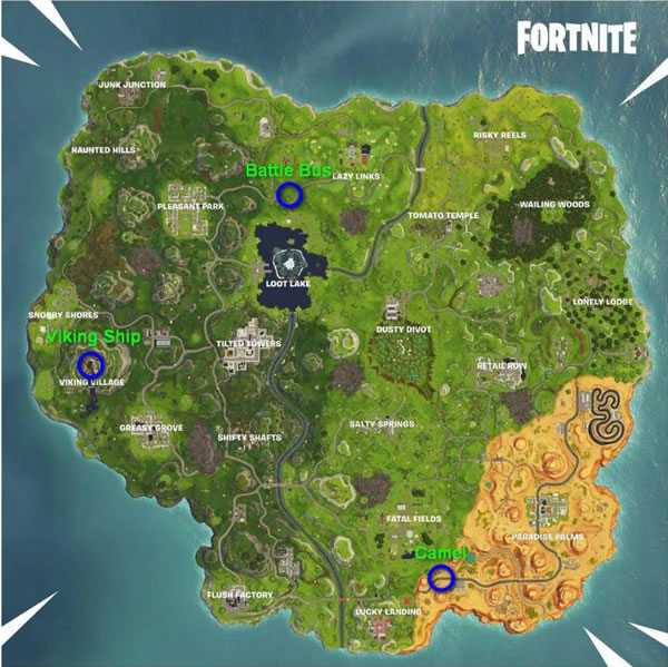 Fortnite Viking Ship Locations