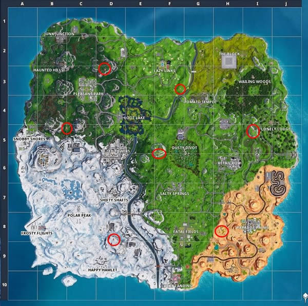 Fortnite All Expedition Outposts locations