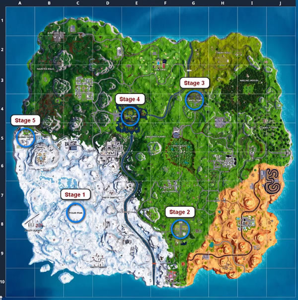 Fortnite Land at Polar Peak