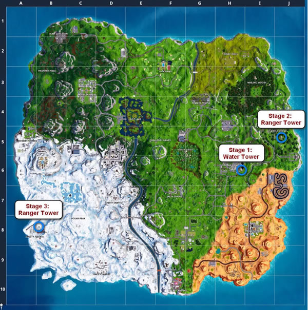 Fortnite Tower Locations