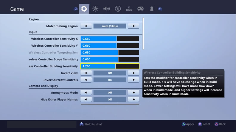 Best Fortnite Sensitivity on Console