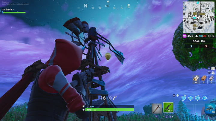 FORTNITE GOLDEN BALLOONS LOCATION FATAL FIELDS