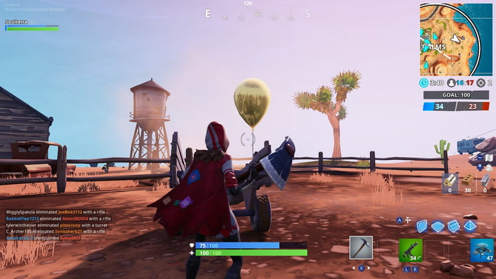 FORTNITE GOLDEN BALLOONS LOCATION PARADISE PALMS