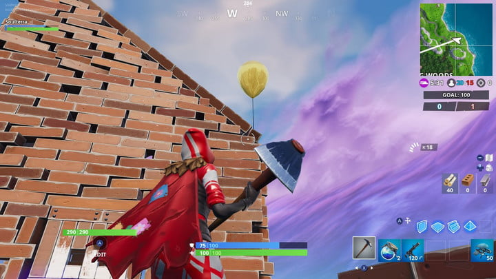 FORTNITE GOLDEN BALLOONS LOCATION WAILING WOODS