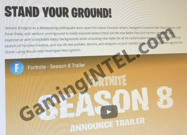 Fortnite Season 8 leaked