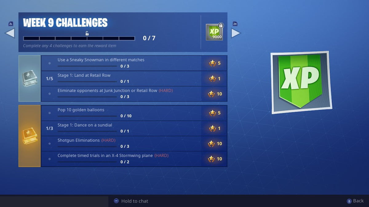 fortnite season 7 week 9 challenges