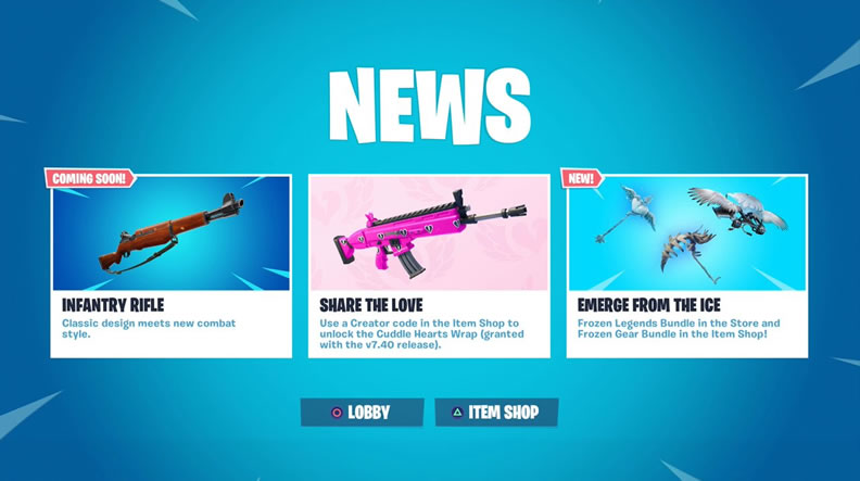 infantry rifle fortnite new coming soon
