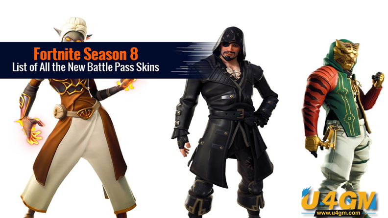 Fortnite Season 8 New Battle Pass Skins
