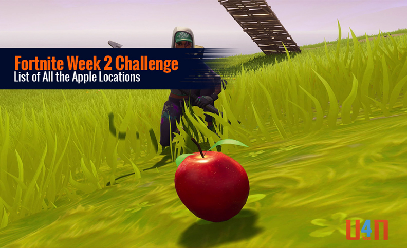 Fortnite Week 2 All the Apple Locations