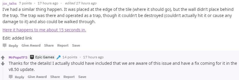 Fortnite Trap Placement Glitch