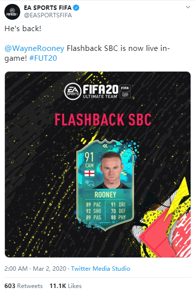 Complete The Flashback Wayne Rooney SBC In Twitter