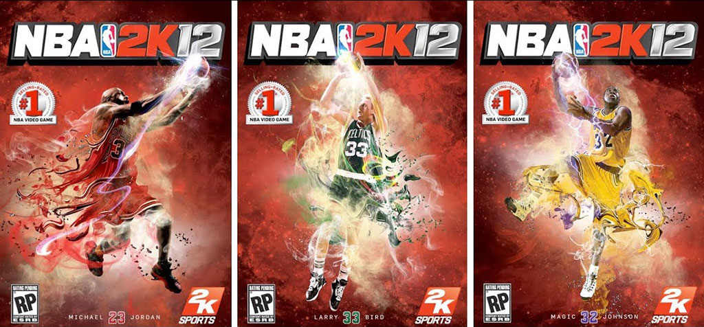 NBA 2K12 - Michael Jordan, Larry Bird, Magic Johnson