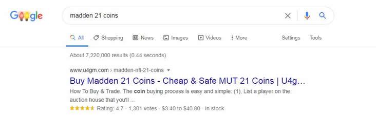 U4gm madden 21 coins