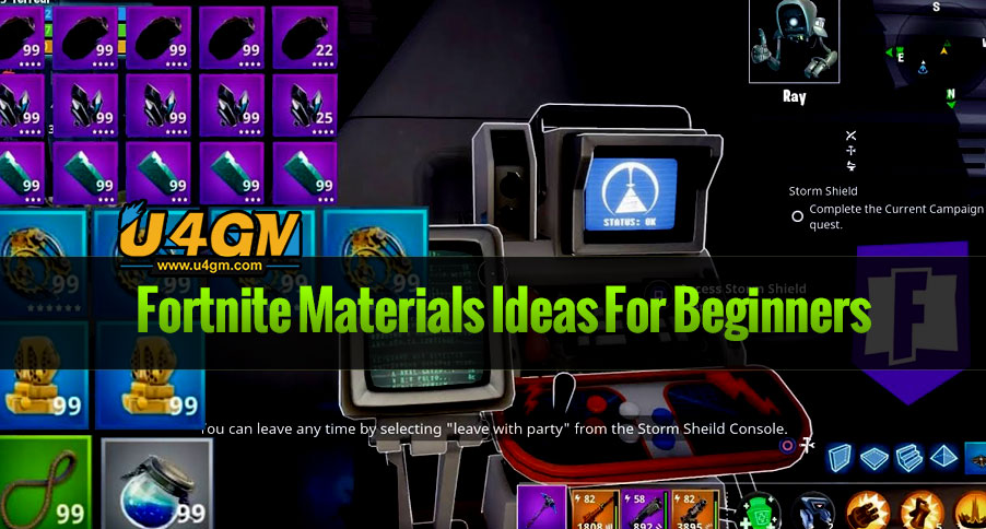 Fortnite save the world Materials Ideas For Beginners