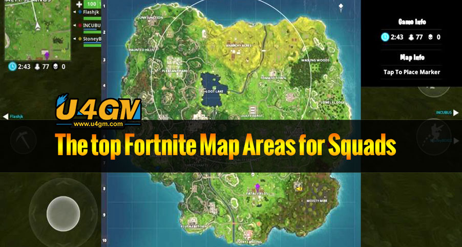 The top Fortnite Map Areas for Squads